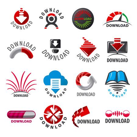 large set of vector logos for download Illustration