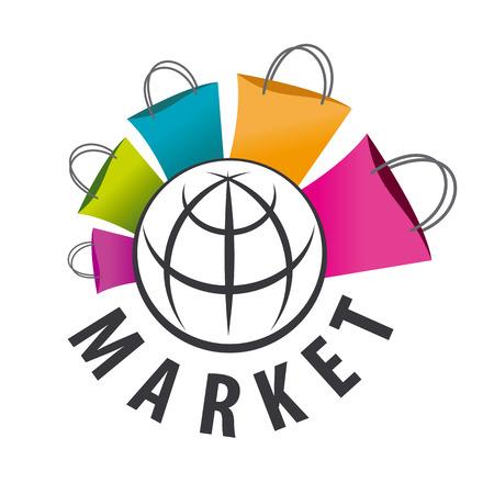 vector logo aankopen van goederen over de hele wereld