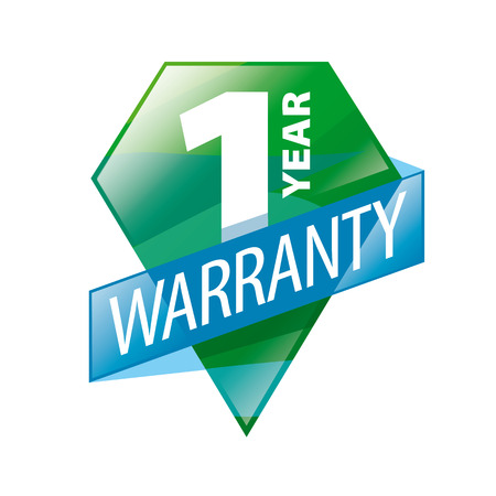 guaranty: vector logo 1 year guarantee in the form of shield Illustration