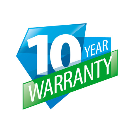 guarantee seal: vector logo 10 years warranty