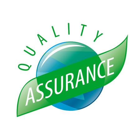 Round vector logo quality assurance Stock Illustratie