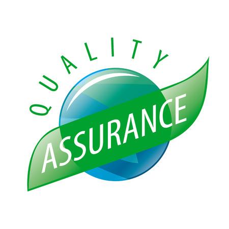 Round vector logo quality assurance Vettoriali