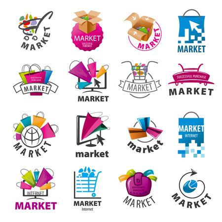 Größte Sammlung von Vektor-Logos für den Markt Standard-Bild - 41075554