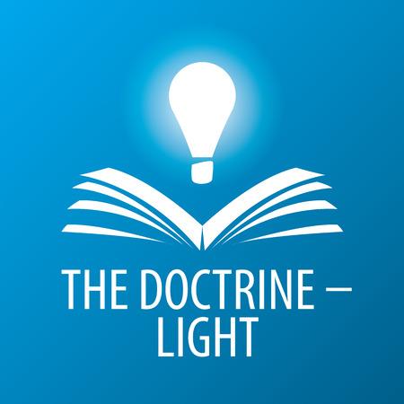 enseñanza: Lámpara de vector logo ilumina libro