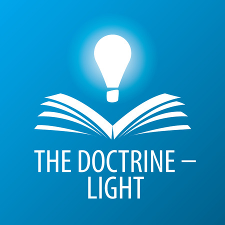 vector logo lamp illuminates book Illustration