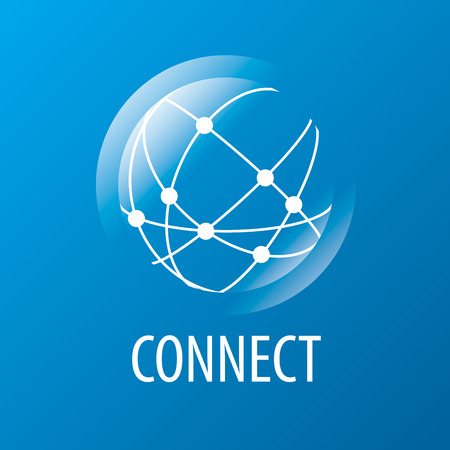 vector logo to connect to the global network Illustration