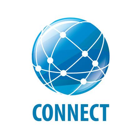 conexiones: vector logo red global en todo el mundo Vectores