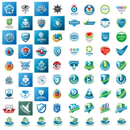 estrellas  de militares: gran conjunto de garantías de seguridad logotipos vectoriales y seguros Vectores