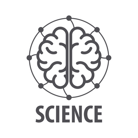 expertise: vector logo brain and electrical wires Illustration