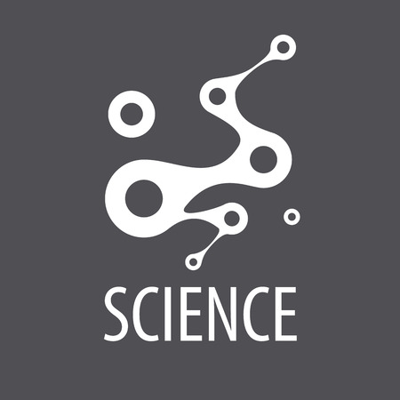 Abstract vector logo for science and technology