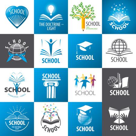 教育: 大集合學校 向量圖像