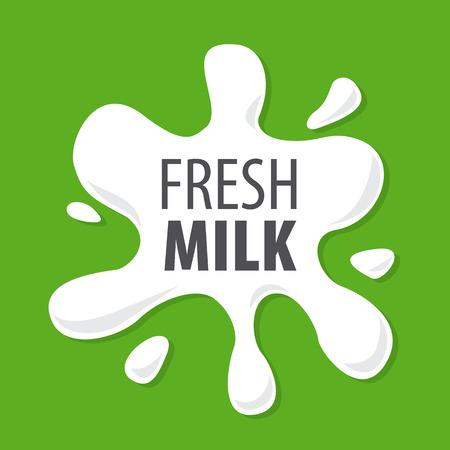leche: salpicaduras de la leche natural