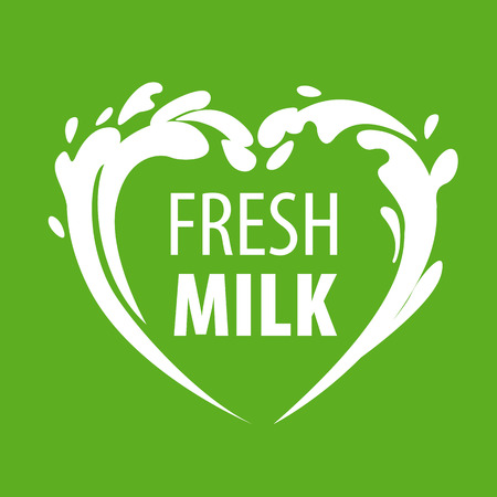 milk products:  splashes of milk in the form of heart