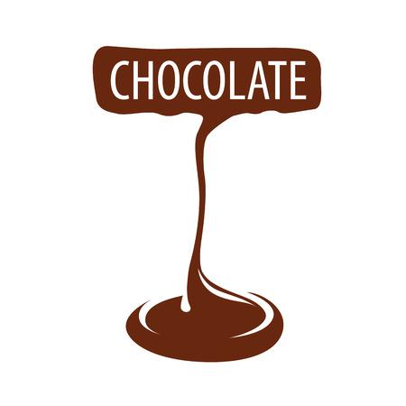 confectioner: vector logo manufacturing dark chocolate