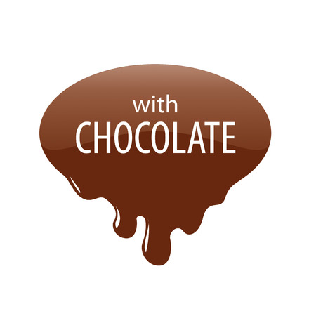 melted chocolate: vector logo drops of melted chocolate