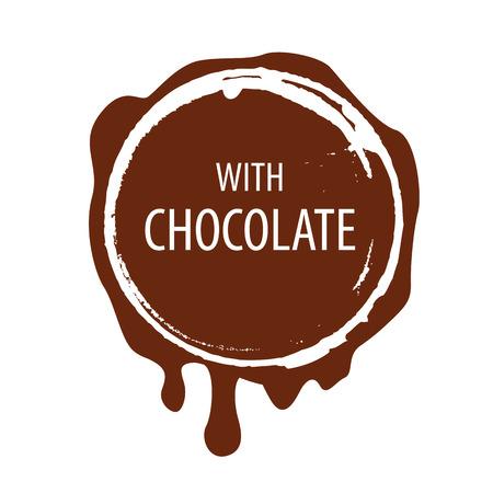 레이블 벡터 로고 초콜릿 인쇄