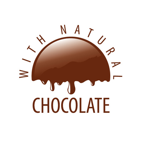 melting chocolate: vector logo natural melting chocolate