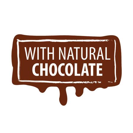 stampa vettoriale logo per il cioccolato naturale Vettoriali