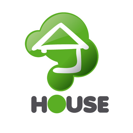 issue: vector logo House in the sign issue Illustration