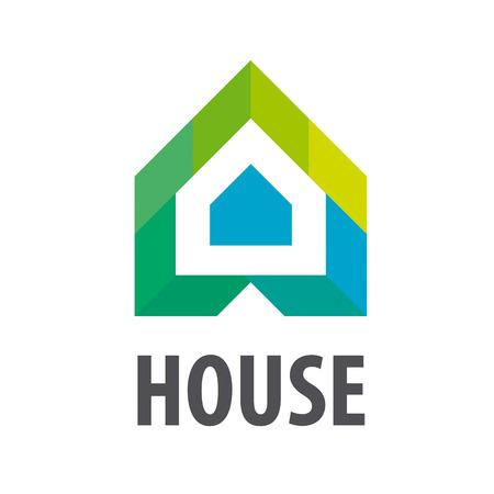 vector logo Huis in de vorm van pijlen