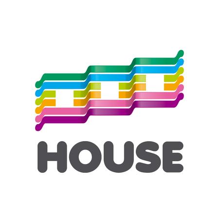 case colorate: logo del vettore a strisce case colorate Vettoriali