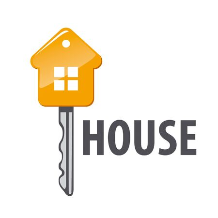 house logo: vector logo of house in form key