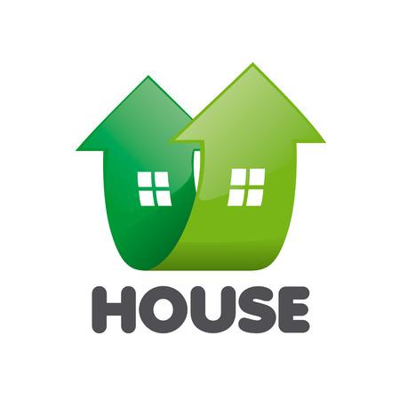logo casa: logo vettoriale casa sotto forma di frecce