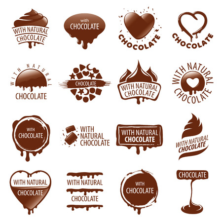 large set of vector   chocolate