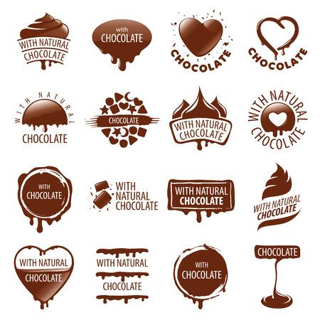 벡터 초콜릿의 큰 세트 일러스트