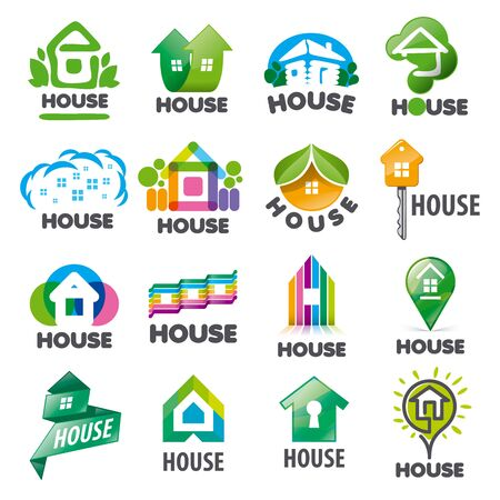 homes: large set of vector   homes