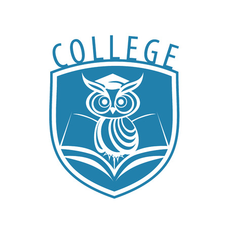 vector logo owl and shield for college