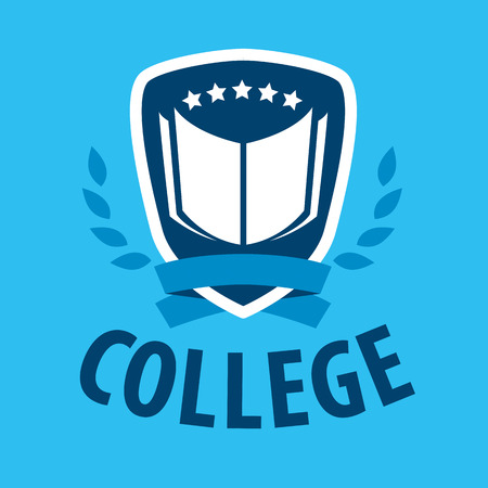 vector logo book and shield for college Illustration