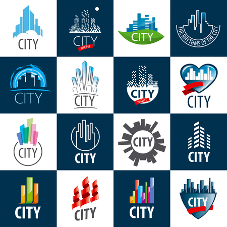 city: large set of vector city Illustration