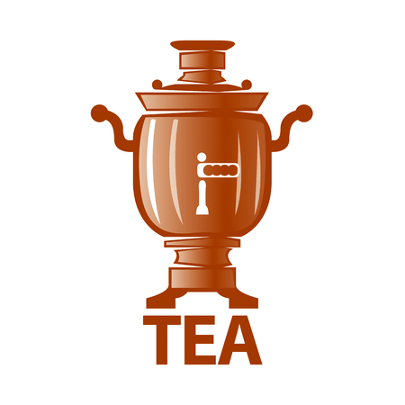 samovar: vector icon Russian samovar for tea