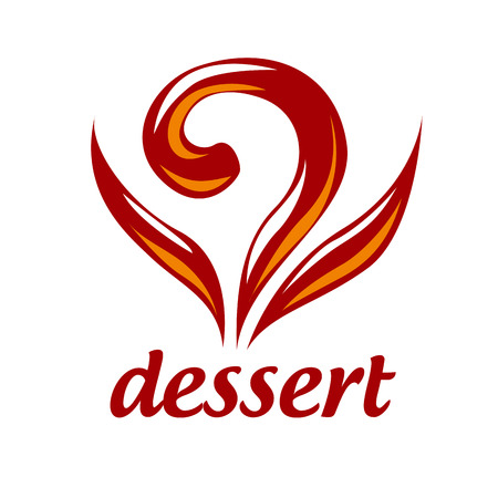 pastries: Abstract vector icon dessert and pastries