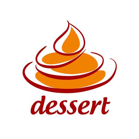 抽象的なベクトルのアイコンの甘いデザート