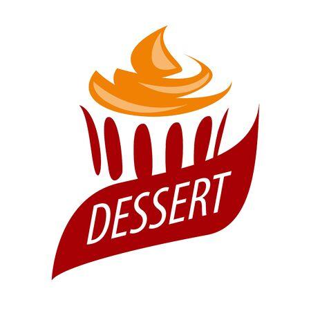 orange cake: vector icon cake with orange cream Illustration