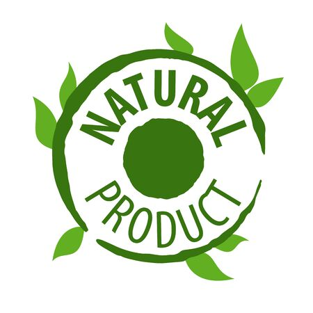 productos naturales: vector icon printing for natural products