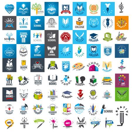 istruzione: grande insieme di set di icone scuola e libri