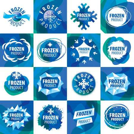 frozen winter: large set of vector icon for frozen products