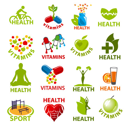 large set of vector icon for health Illusztráció