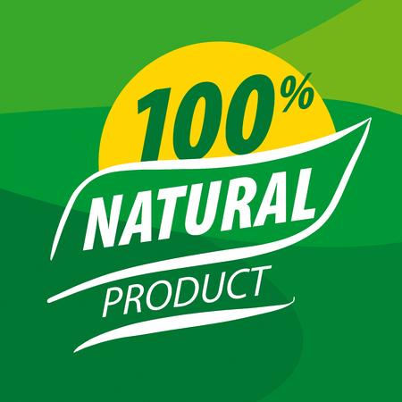 frescura: icono de vectores de fondo para alimentos orgánicos en un fondo verde Vectores