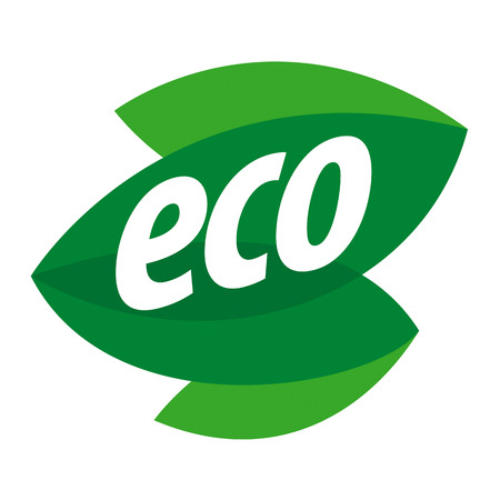 nature eco: Abstract eco vector icon in the form of leaf