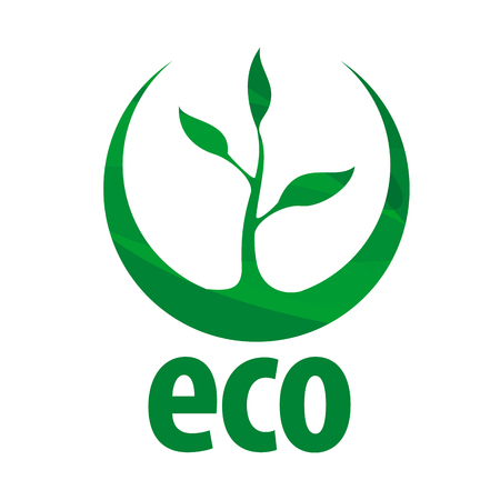 eco: eco vector icon with green sprout Illustration