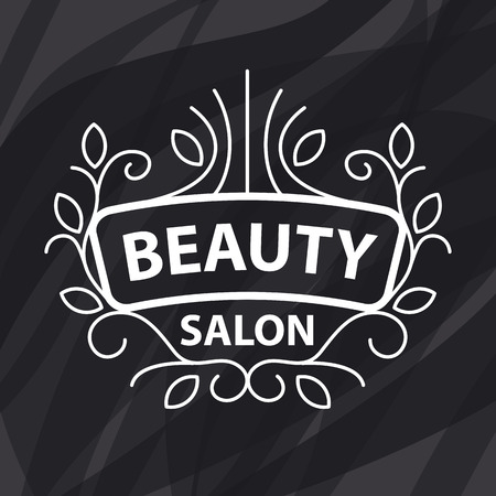 hair beauty: Abstract vector logo of floral ornament