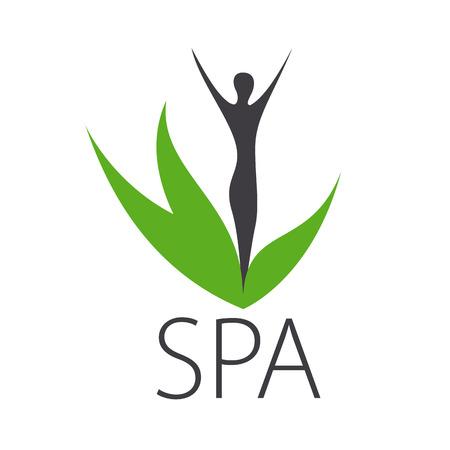 vector logo silhouette of a girl for spa salon Illustration