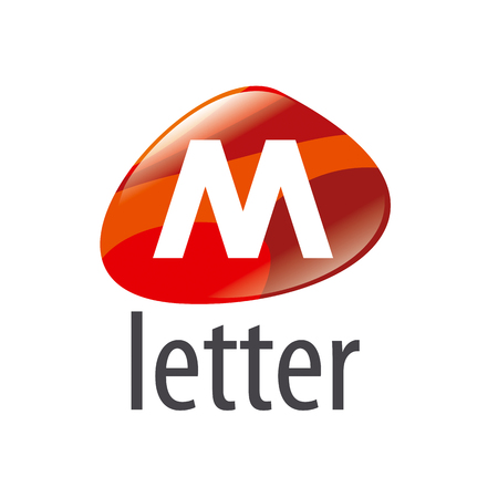 m: vector logo abstract form the letter M