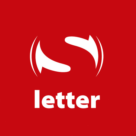 vector logo letter S on a red background
