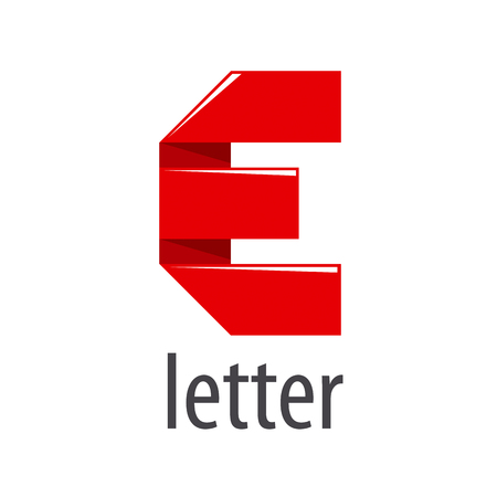 red tape: vector logo red tape in the form of letter E Illustration