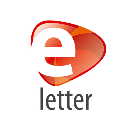 vector logo white letter E on an abstract background